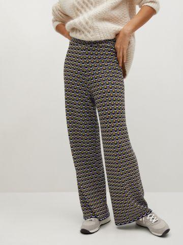 מכנסיים סרוגים בהדפס של MANGO