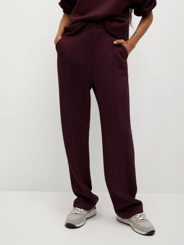 מכנסי טרנינג בגזרה ישרה של MANGO