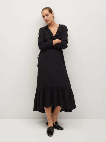 שמלת מידי פפלום עם מלמלה של MANGO