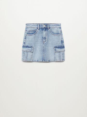 """חצאית ג'ינס בסגנון דגמ""""ח / בנות של MANGO"""