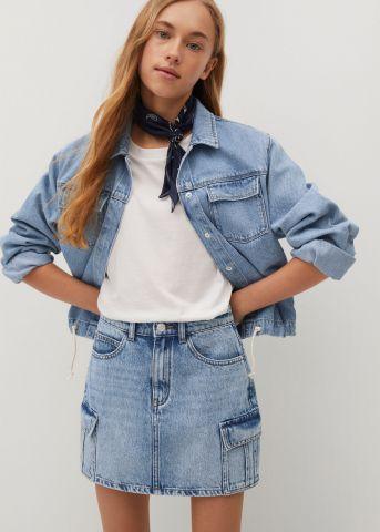 חצאית ג'ינס בסגנון דגמ״ח / בנות של MANGO