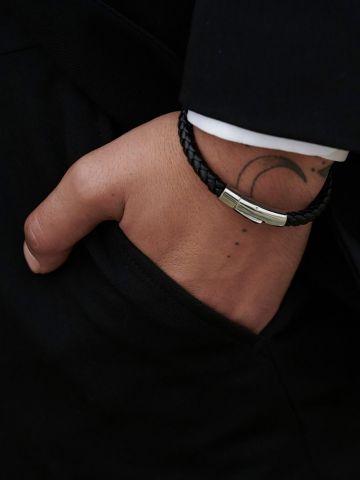 צמיד עור קלוע / גברים של AINKER