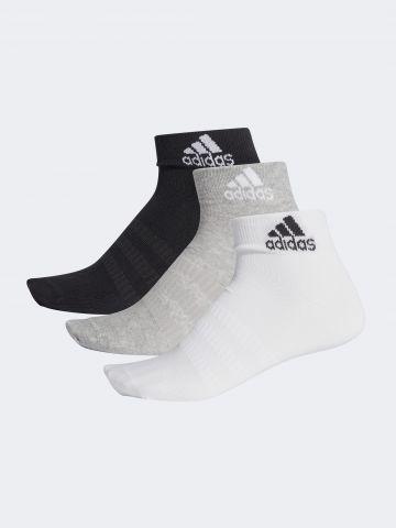 מארז 3 זוגות גרביים נמוכים עם לוגו / גברים של ADIDAS Performance