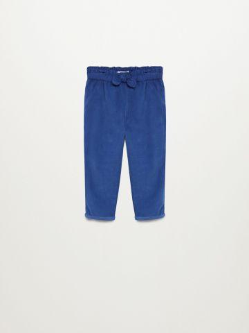 מכנסי קורדורוי עם פפיון / 9M-4Y של MANGO