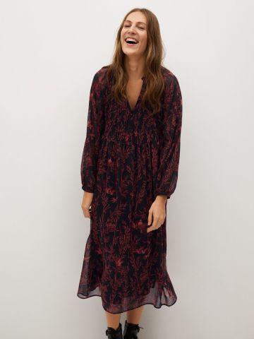 שמלת מידי מתרחבת בהדפס פרחים של MANGO