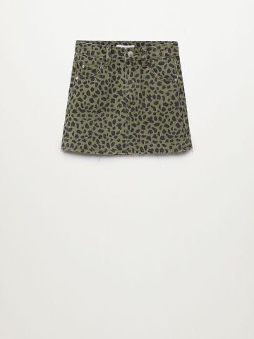 חצאית ג'ינס בהדפס חברבורות / בנות של MANGO