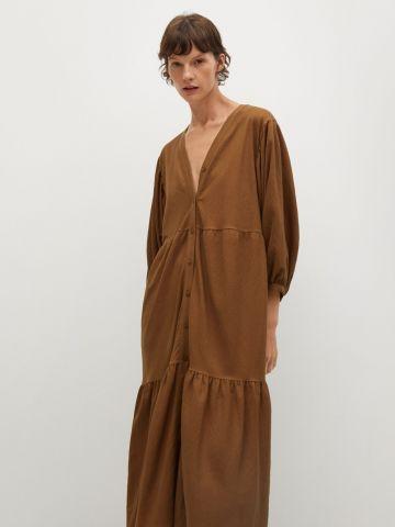 שמלת מידי קומות עם כפתורים של MANGO