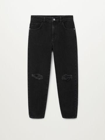 ג'ינס בגזרה ישרה עם קרעים / בנים של MANGO