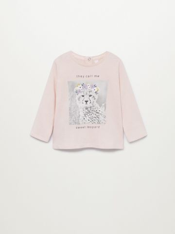 חולצת טי שירט עם הדפס נמר / 9M-4Y של MANGO