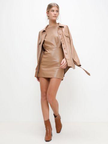שמלת מיני דמוי עור של YANGA