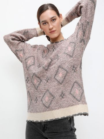 סוודר עם מעויינים של YANGA