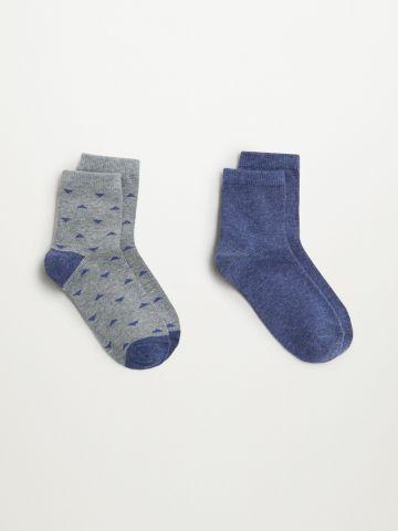 מארז 2 זוגות גרביים גבוהים / בנים של MANGO