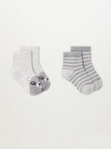 מארז 2 זוגות גרביים / בייבי בנים של MANGO