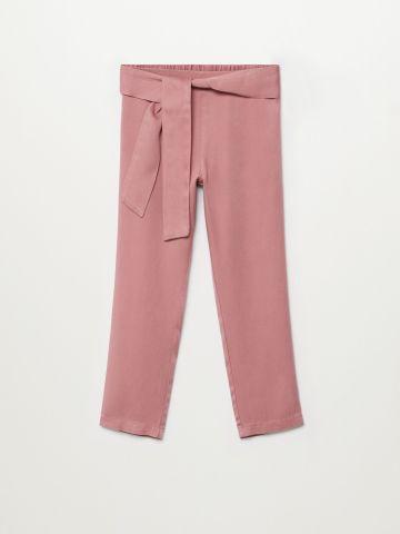 מכנסיים ארוכים עם קשירה / בנות של MANGO