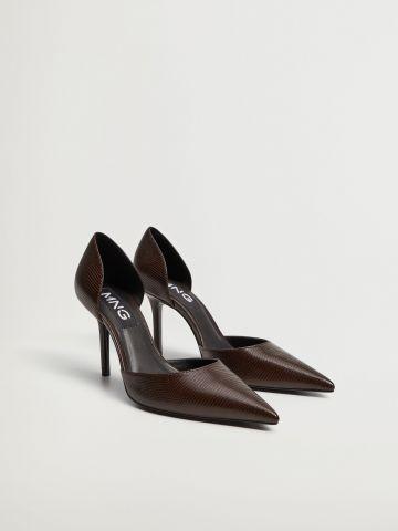 נעלי עקב סטילטו דמוי עור של MANGO