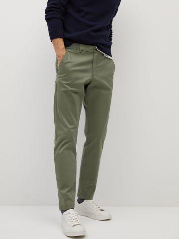 מכנסי קרופ בגזרת סלים של MANGO