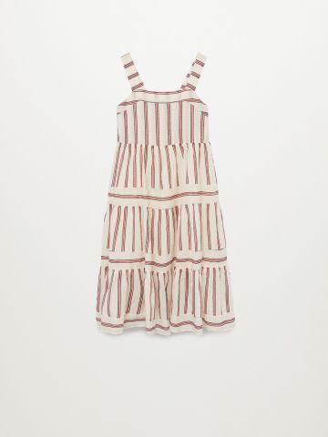 שמלה ארוכה בהדפס פסים / בנות של MANGO