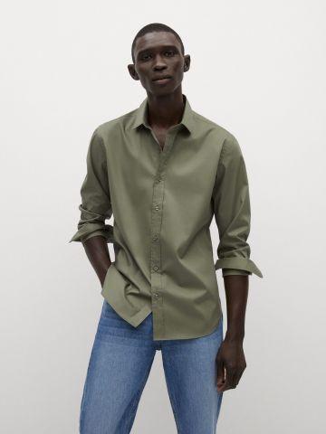 חולצה מכופתרת קלאסית של MANGO