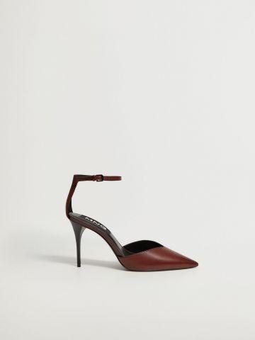 נעלי עקב מעור של MANGO