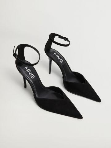 נעלי עקב מזמש של MANGO
