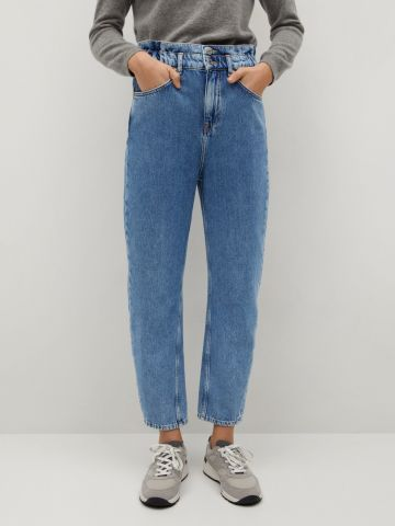 ג'ינס Slouchy בגזרה גבוהה של MANGO