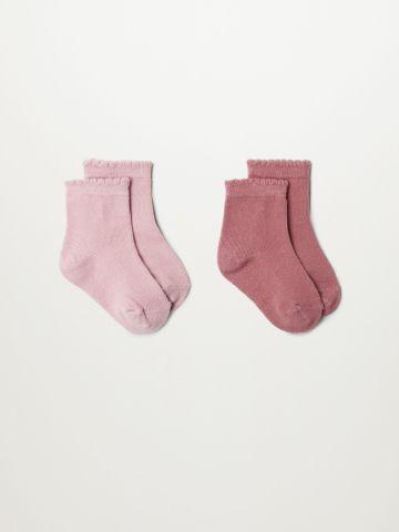 מארז 2 זוגות גרביים / בייבי בנות של MANGO