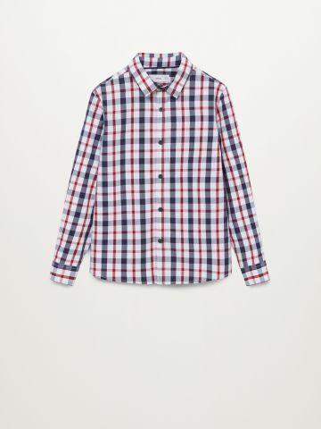 חולצה מכופתרת בהדפס משבצות / בנים של MANGO
