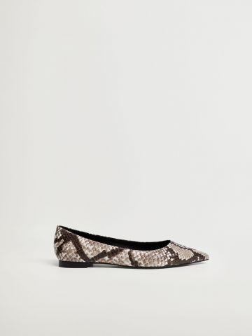 נעלי בובה בדוגמת נחש / נשים של MANGO
