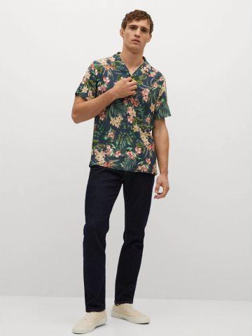 חולצה מכופתרת בסגנון הוואי של MANGO
