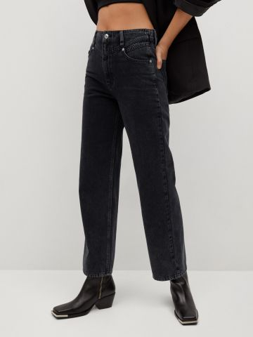 ג'ינס רחב בגזרה גבוהה של MANGO