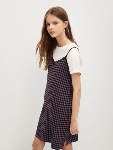 שמלה בהדפס משבצות / בנות של MANGO