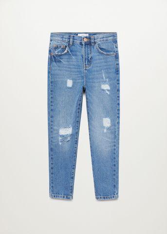 ג'ינס עם קרעים Mom / בנות של MANGO