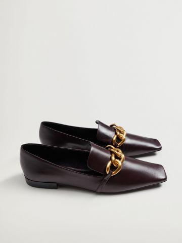 נעלי עור עם אבזם מוזהב / נשים של MANGO