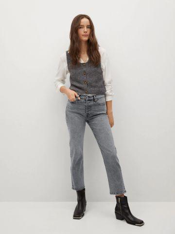 מכנסי ג'ינס Slim ארוכים בגזרה ישרה של MANGO