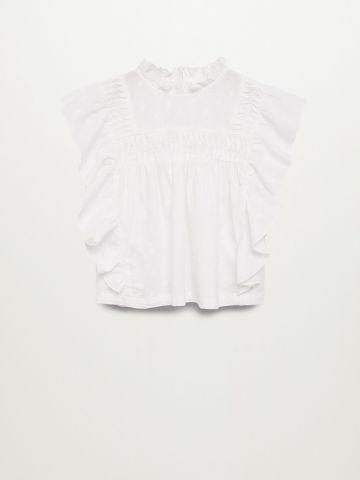 חולצה בטקסטורה עם עיטורי מלמלה / בנות של MANGO