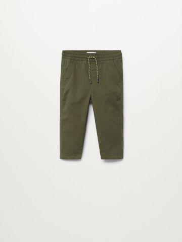 מכנסיים ארוכים בשילוב קשירה / 9M-4Y של MANGO