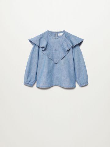 חולצת ג'ינס עם מלמלה / 9M-4Y של MANGO