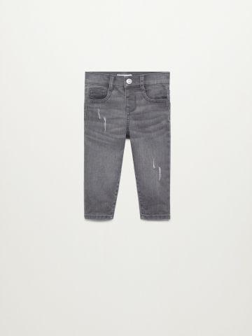 ג'ינס בגזרת Slim עם קרעים / 9M-4Y של MANGO