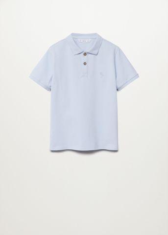 חולצת פולו חלקה Slim-Fit עם רקמה / בנים של MANGO