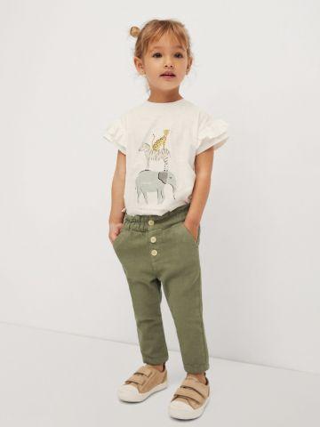 מכנסיים ארוכים בסגנון ג'ינס של MANGO