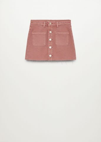 חצאית ג'ינס קצרה עם כיסים / בנות של MANGO