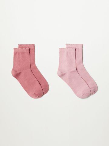 מארז 2 זוגות גרביים גבוהים / בנות של MANGO