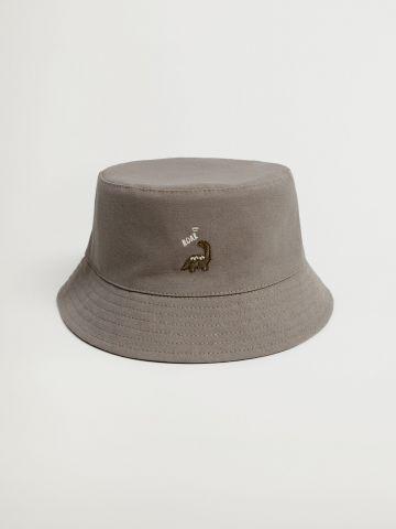 כובע באקט עם רקמת דינוזאור / 1M-24M של MANGO
