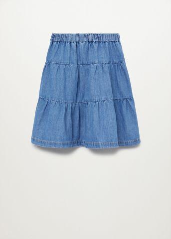 חצאית ג'ינס בסגנון קומות / בנות של MANGO