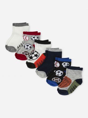 מארז 6 זוגות גרביים ספורט / 6M-4Y של THE CHILDREN'S PLACE