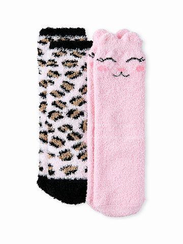 מארז 2 זוגות גרביים פרוותיים / בנות של THE CHILDREN'S PLACE