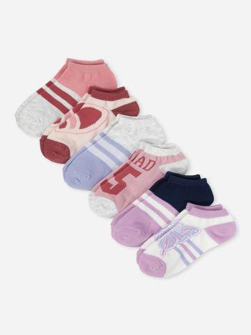 מארז 6 זוגות גרביים נמוכים / בנות של THE CHILDREN'S PLACE