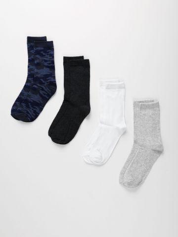 מארז 4 זוגות גרביים גבוהות / בנים של FOX