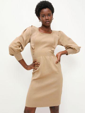 שמלה סרוגה עם שרוולים נפוחים של YANGA