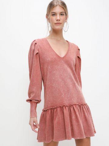 שמלת מיני פפלום ווש של YANGA